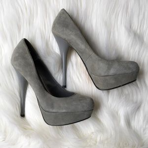 b0ca6040deb Bakers Shoes - ☀ ☀ Baker Platform Gray Suede Pumps ...